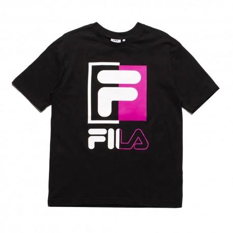 Fila T-Shirt Big Logo Nero Uomo