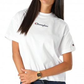 Champion T-Shirt Crop Roc Bianco Donna