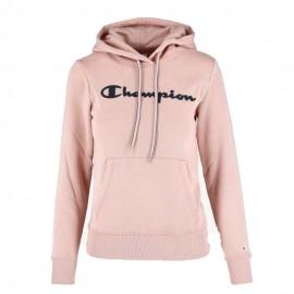 Champion Felpa Con Cappuccio Logo Classic Rosa Donna
