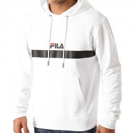Fila Felpa Con Cappuccio Logo Bianco Uomo