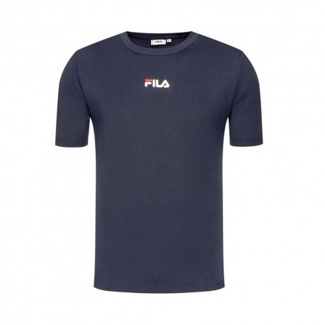 Fila T-Shirt Logo Piccolo Blu Uomo