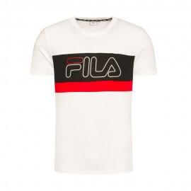Fila T-Shirt Tricolor Bianco Uomo