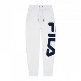 Fila Pantaloni con Polsino Unisex Big Logo Bianco Uomo