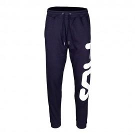 Fila Pantaloni con Polsino Unisex Big Logo Blu Uomo