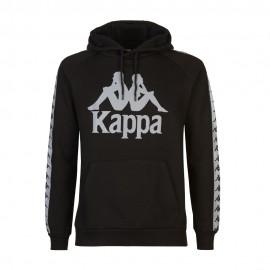 Kappa Felpa Con Cappuccio Reflective Nero Uomo