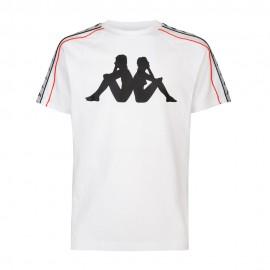 Kappa T-Shirt Big Logo Bianco Uomo