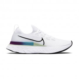 Nike Scarpe Running Epic React Infinity Bianco Nero-Vapor Verde-Or Donna