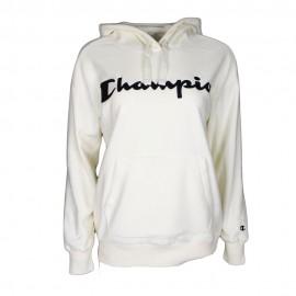 Champion Felpa in Pile Capp Logo Panna Donna