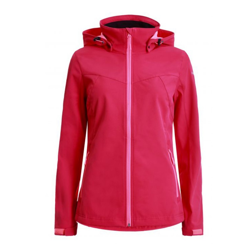 Icepeak Giacca Alpinismo Softshell Boise Rosso Donna