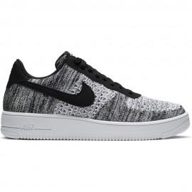 Nike Sneakers Air Force 1 Flyknit 2.0 Grigio Nero Bambino