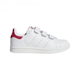 Adidas Junior Stan Smith Cf Int Ps Bianco/Fucsia