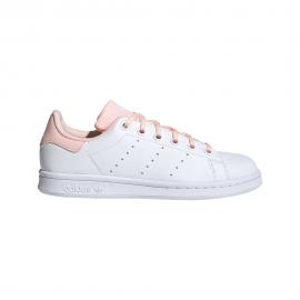 ADIDAS originals sneakers stan smith gs bianco rosa bambina