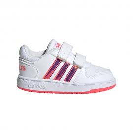 ADIDAS sneakers hoops 2.0 cmf td bianco rosa bambina