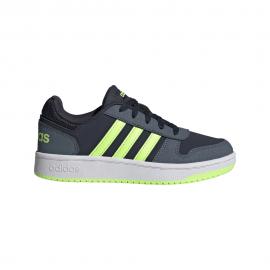 ADIDAS sneakers hoops 2.0 gs blu bianco bambino