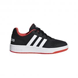 ADIDAS sneakers hoops 2.0 gs nero bianco bambino