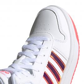 ADIDAS sneakers hoops mid 2.0 gs bianco rosa bambina