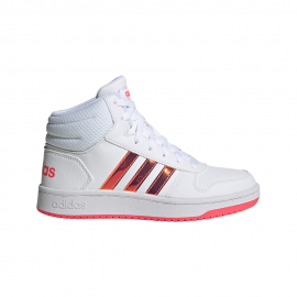 ADIDAS sneakers hoops mid 2.0 gs bianco rosa bambina