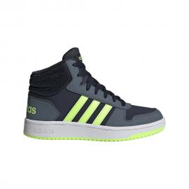 ADIDAS sneakers hoops mid 2.0 gs blu bianco bambino