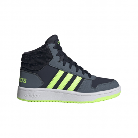 ADIDAS sneakers hoops mid 2.0 gs blu verde bambino