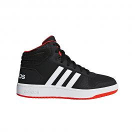 ADIDAS sneakers hoops mid 2.0 gs nero bianco bambino