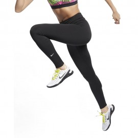 Nike Leggings One Nero Bianco Donna