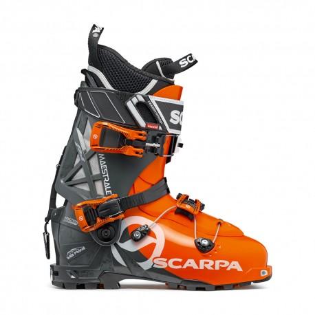 Scarpa Scarponi Sci Alpinismo Maestrale Arancio Grigio Uomo