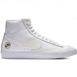Nike Sneakers W Blazer Mid Vintage '77 Bianco Bianco Donna