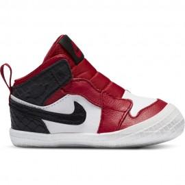 Nike Sneakers Jordan 1 Crib Td Bianco Rosso Nero Bambino