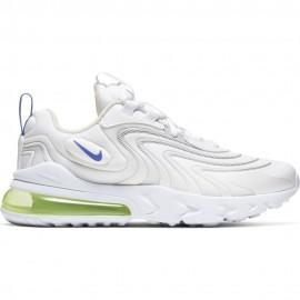 Nike Sneakers Air Max 270 React Eng Gs Bianco Viola Bambino