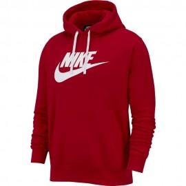 Nike Felpa Con Cappuccio Logo Rosso Uomo