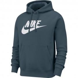 Nike Felpa Con Cappuccio Logo Verde Uomo