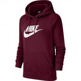 Nike Felpa Con Cappuccio Bordeaux Donna