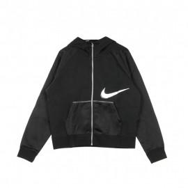 Nike Felpa Crop Top Con Cappuccio Nero Donna