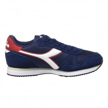 Diadora Sneakers Simple Run Blu Bianco Uomo