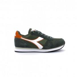 Diadora Sneakers Simple Run Grigio Bianco Uomo