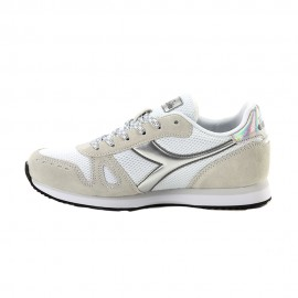 Diadora Sneakers Simple Run Bianco Argento Donna
