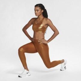 Nike Reggiseno Sportivo Swoosh Oro Donna