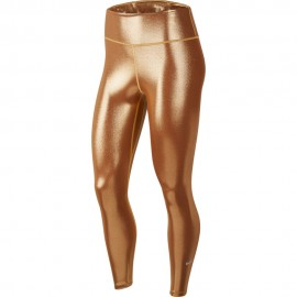 Nike Leggings Sportivi Metallic Oro Donna