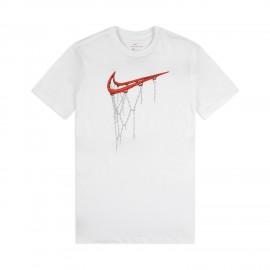 Nike Maglia Basket Mm Fran Swoosh Bianco Uomo