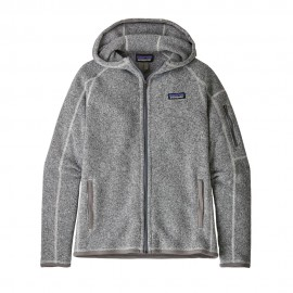 Patagonia Pile Montagna Better Sweater Hoody Bianco Donna
