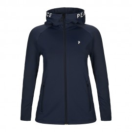 Peak Performance Felpa in Pile Fz Rider Blu Donna