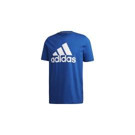 ADIDAS maglietta palestra logo blu uomo