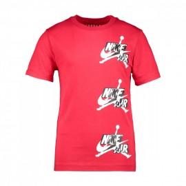 Nike T-Shirt Jordan Rosso Bambino