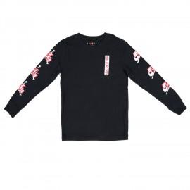 Nike T-Shirt Jordan Manica Lunga Nero Bambino