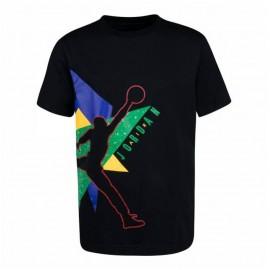 Nike T-Shirt Jordan Nero Multicolore Bambino