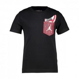 Nike T-Shirt Aj1 Pocket Nero Bambino
