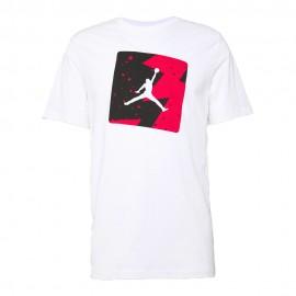 Nike T-Shirt Logo Fantasia Jordan Bianco Uomo