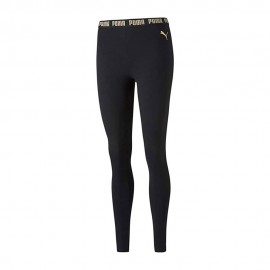 Puma Leggings Logo Metallico Nero Donna