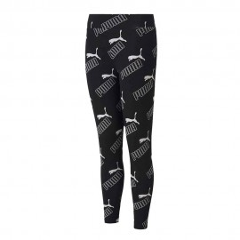 Puma Leggings Multilogo Nero Bambina