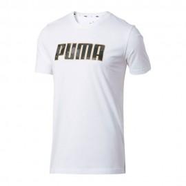 Puma T-Shirt Logo Bianco Uomo